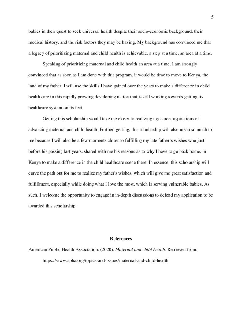 Scholarship Essay Examples About Yourself 5