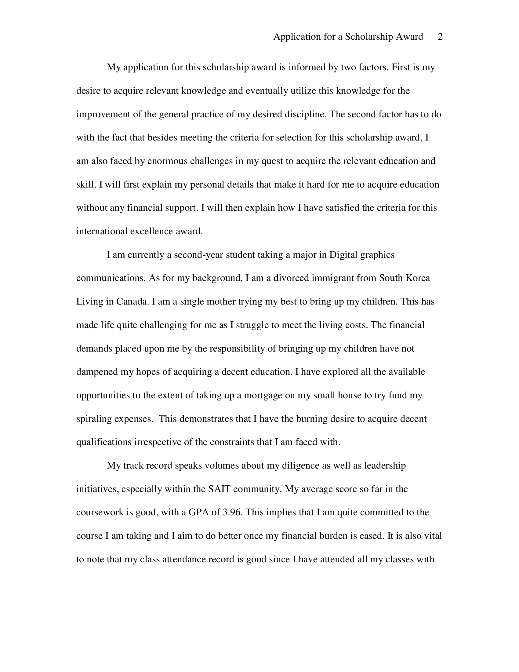 Scholarship Essay Sample about Why I Deserve The Scholarship 2