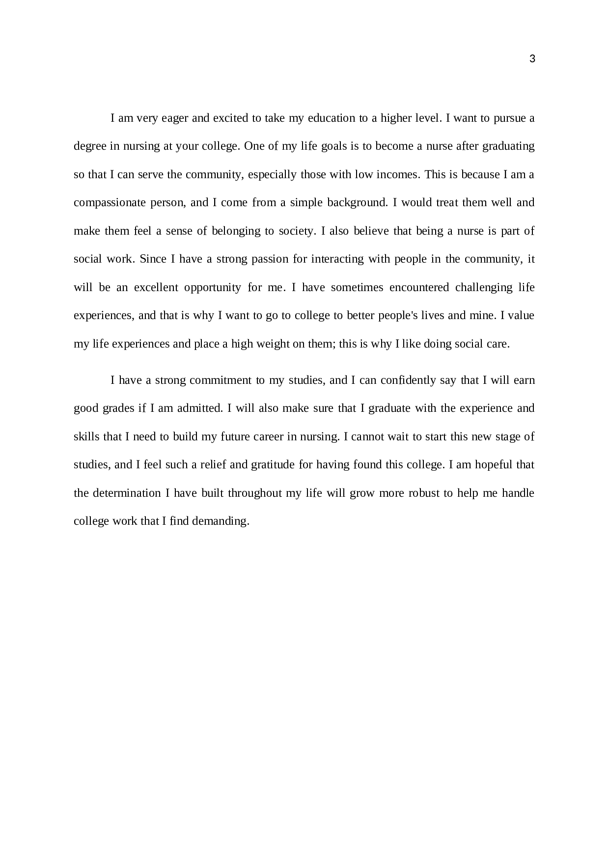 College Admission Essay Examples About Yourself 2
