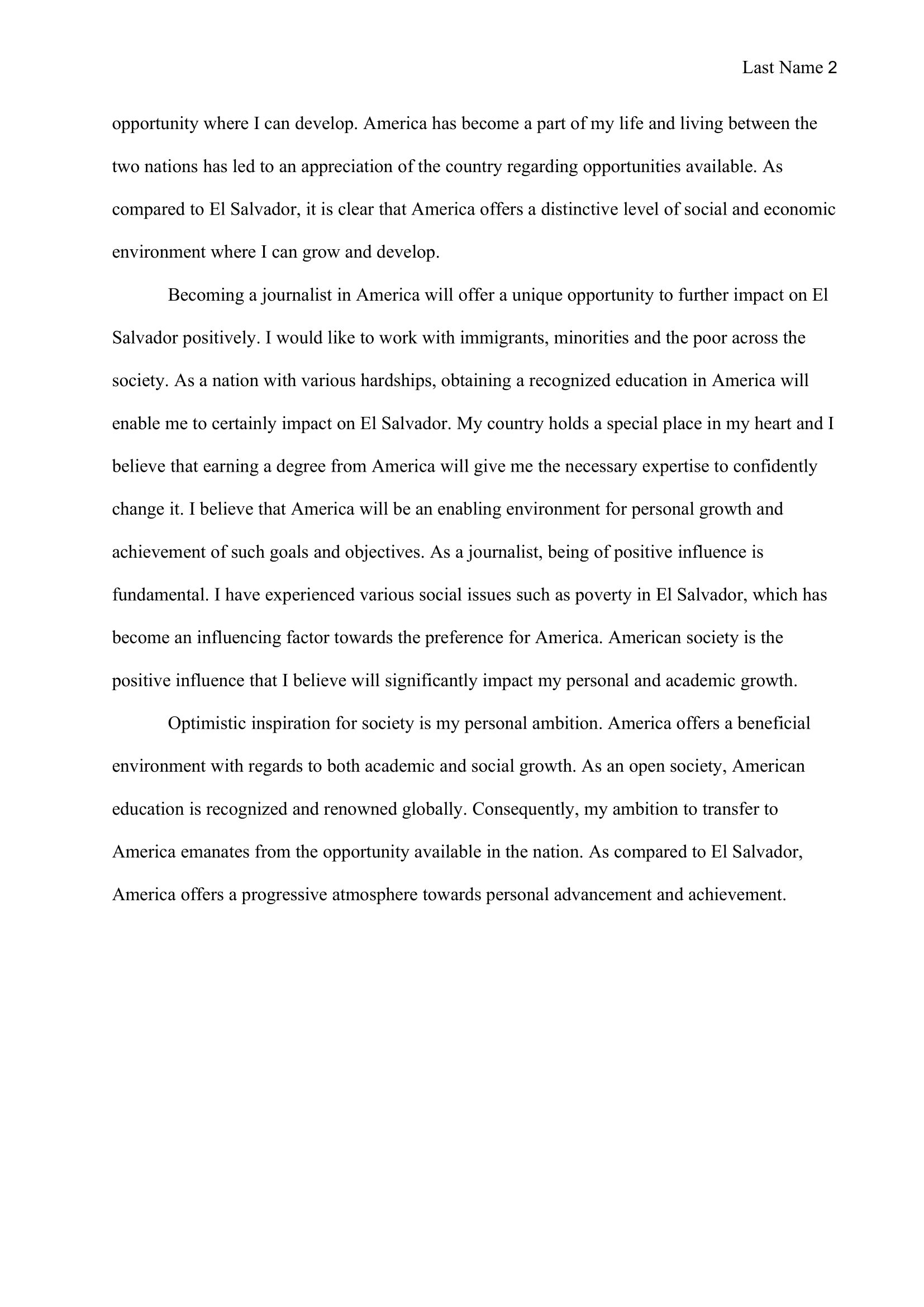 Why I Want To Transfer Essay Examples 2